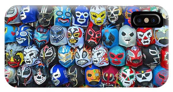 Wrestling Masks Of Lucha Libre IPhone Case
