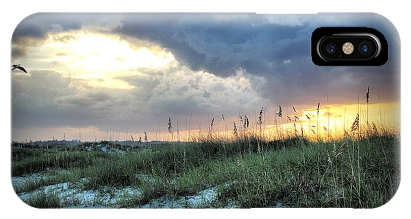 Wrightsville Beach South End Sunset IPhone Case