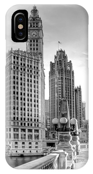 Monochrome iPhone Case - Wrigley And Tribune by Scott Norris