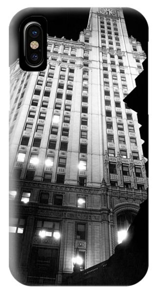 Wrigley Building At Night IPhone Case