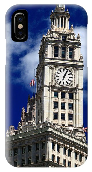 Wrigley Building Clock Tower IPhone Case