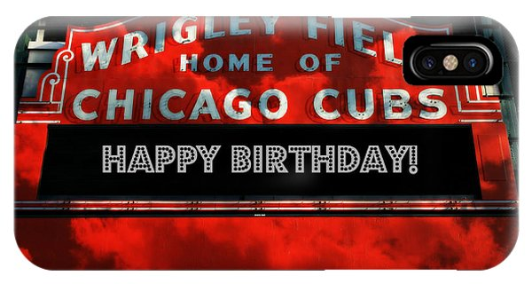 Wrigley Field -- Happy Birthday IPhone Case