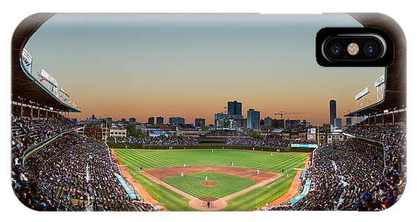Chicago iPhone Case - Wrigley Field Night Game Chicago by Steve Gadomski