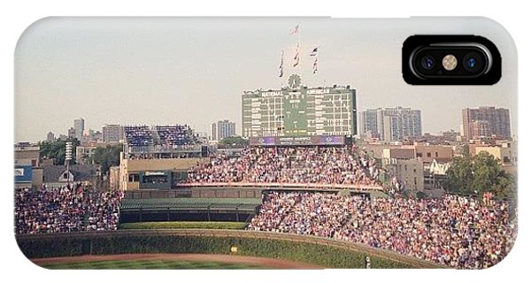 Sports iPhone Case - Wrigley by Mike Maher