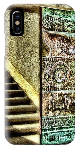Wrigley's Tower Bronze Doors By Diana Sainz IPhone Case