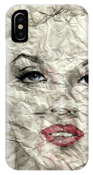 wrinckled Marilyn IPhone Case