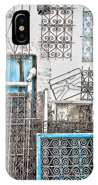 Window Shopping iPhone Case - Wrought Iron 1 by Delphimages Photo Creations