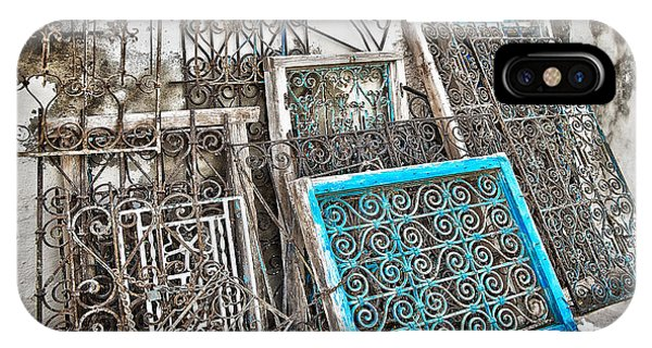 Window Shopping iPhone Case - Wrought Iron 2 by Delphimages Photo Creations