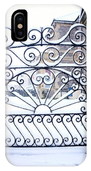 Wrought Iron Snow IPhone Case