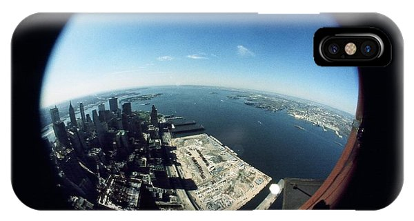 Wtc North Tower Hudson River IPhone Case