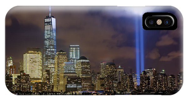 Wtc Tribute In Lights Nyc IPhone Case