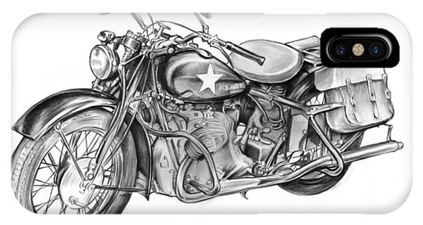 Ww2 Military Motorcycle IPhone Case