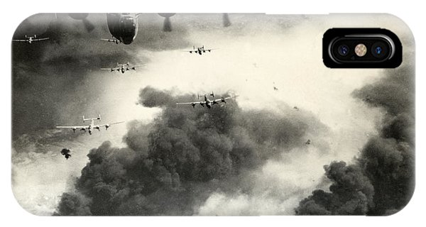 Bomber iPhone Case - Wwii B-24 Liberators Over Ploesti by Historic Image