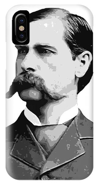 Ok iPhone Case - Wyatt Earp Old West Legend by Daniel Hagerman