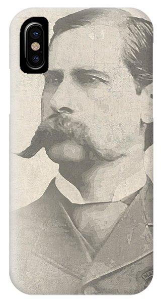 Ok iPhone Case - Wyatt Earp U. S. Marshal by Daniel Hagerman