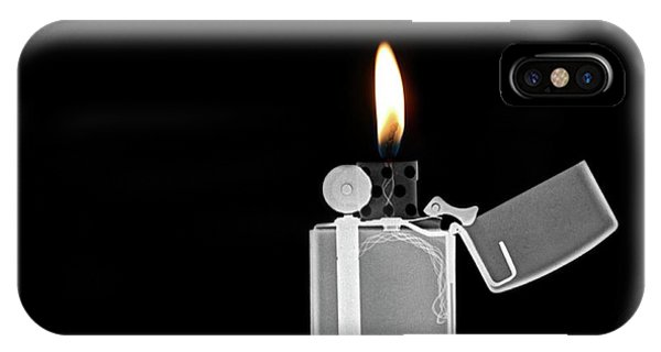Psi iPhone Case - X-ray Image Of A Zippo Lighter by Photostock-israel/science Photo Library