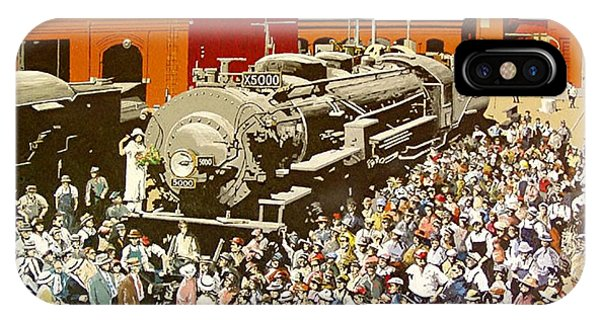 X5000 At The Sacramento Locomotive Works Phone Case by Paul Guyer