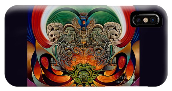 Aztec iPhone Case - Xiuhcoatl The Fire Serpent by Ricardo Chavez-Mendez