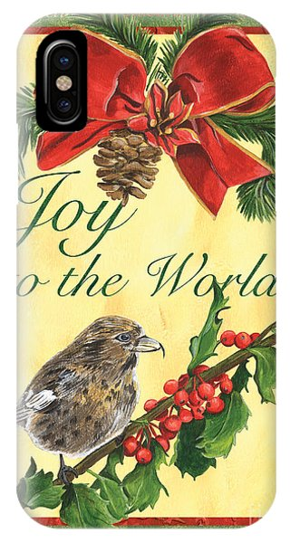 Titmouse iPhone Case - Xmas Around The World 2 by Debbie DeWitt