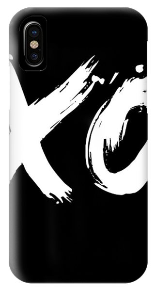 Humor iPhone Case - Xo Poster Black by Naxart Studio