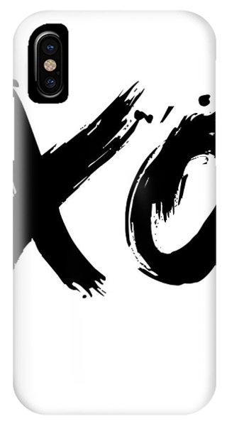 Humor iPhone Case - Xo Poster White by Naxart Studio