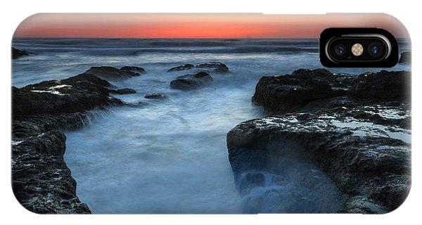 Cauldron iPhone Case - Yachats Sunset by Mike  Dawson