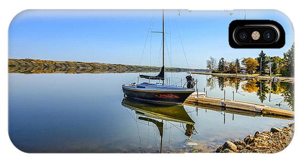 iPhone Case - Yacht At The Little Manitou Lake by Viktor Birkus