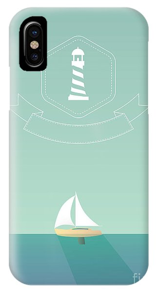 Shadow iPhone Case - Yacht Sailing In The Sea. Traveling by Mjgraphics