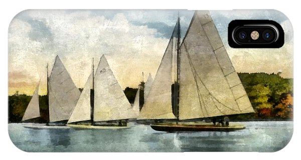 Holland iPhone Case - Yachting In Saugatuck by Michelle Calkins