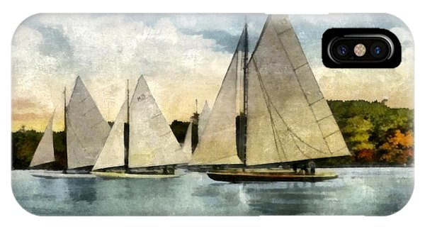 Yachting In Saugatuck IPhone Case