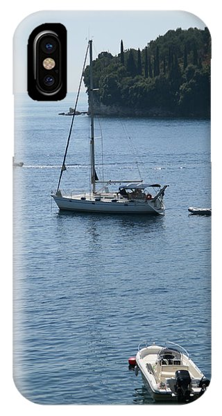 Yachts At Anchor IPhone Case