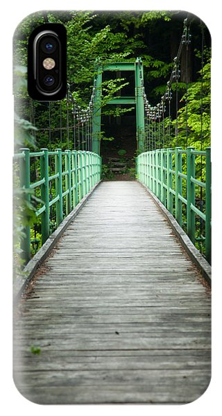 IPhone Case featuring the photograph Yagen Forest Bridge by Brad Brizek