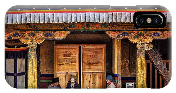 Yak Butter Tea Break At The Potala Palace IPhone Case
