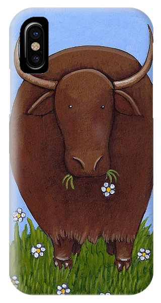 Whimsical Yak Painting Phone Case by Christy Beckwith