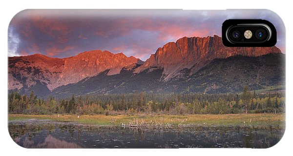 Yamnuska And Reflection  IPhone Case