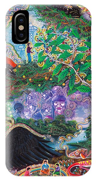 IPhone Case featuring the painting Yana Huaman by Pablo Amaringo