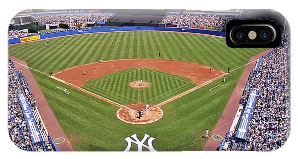 Old World iPhone Case - Yankee Stadium by Allen Beatty