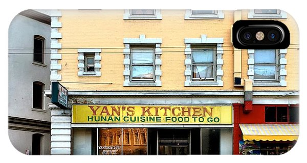 Architecture iPhone Case - Yan's Kitchen by Julie Gebhardt