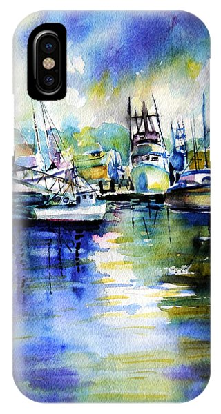 Yaquina Bay Boats IPhone Case