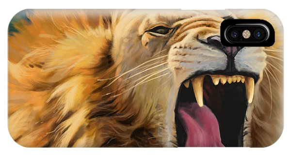 Yawning Lion Phone Case by Aaron Blaise