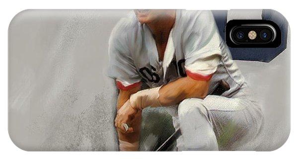 Boston Red Sox iPhone Case - Yaz  Carl Yastrzemski by Iconic Images Art Gallery David Pucciarelli