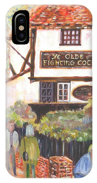 Ye Olde Fighting Cocks With Strollers And Lovers IPhone Case