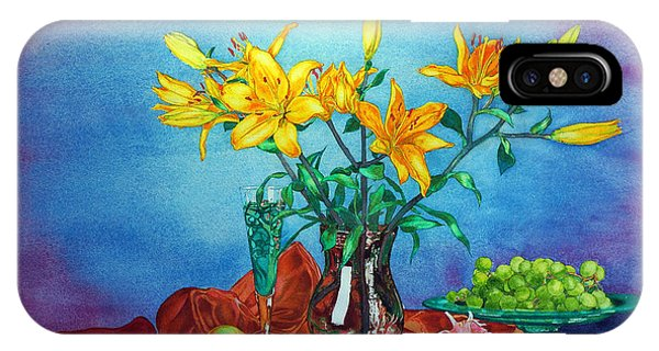 Yellow Lily In A Vase IPhone Case