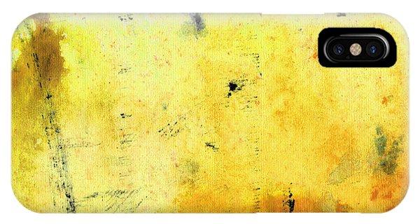 Yellow Abstract Art - Lemon Haze - By Sharon Cummings IPhone Case