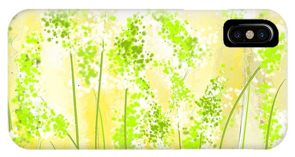 Yellow And Green Art IPhone Case