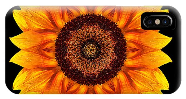 Yellow And Orange Sunflower Vi Flower Mandala IPhone Case
