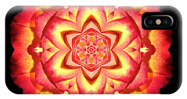 Yellow And Red Rose II Flower Mandalaflower Mandala IPhone Case