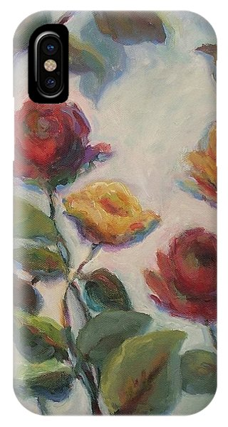 Yellow And Red Roses  IPhone Case