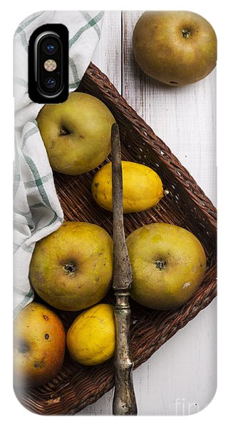 Menu iPhone Case - Yellow Apples by Jelena Jovanovic