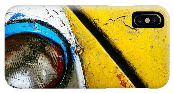 Yellow Auto Rickshaw IPhone Case